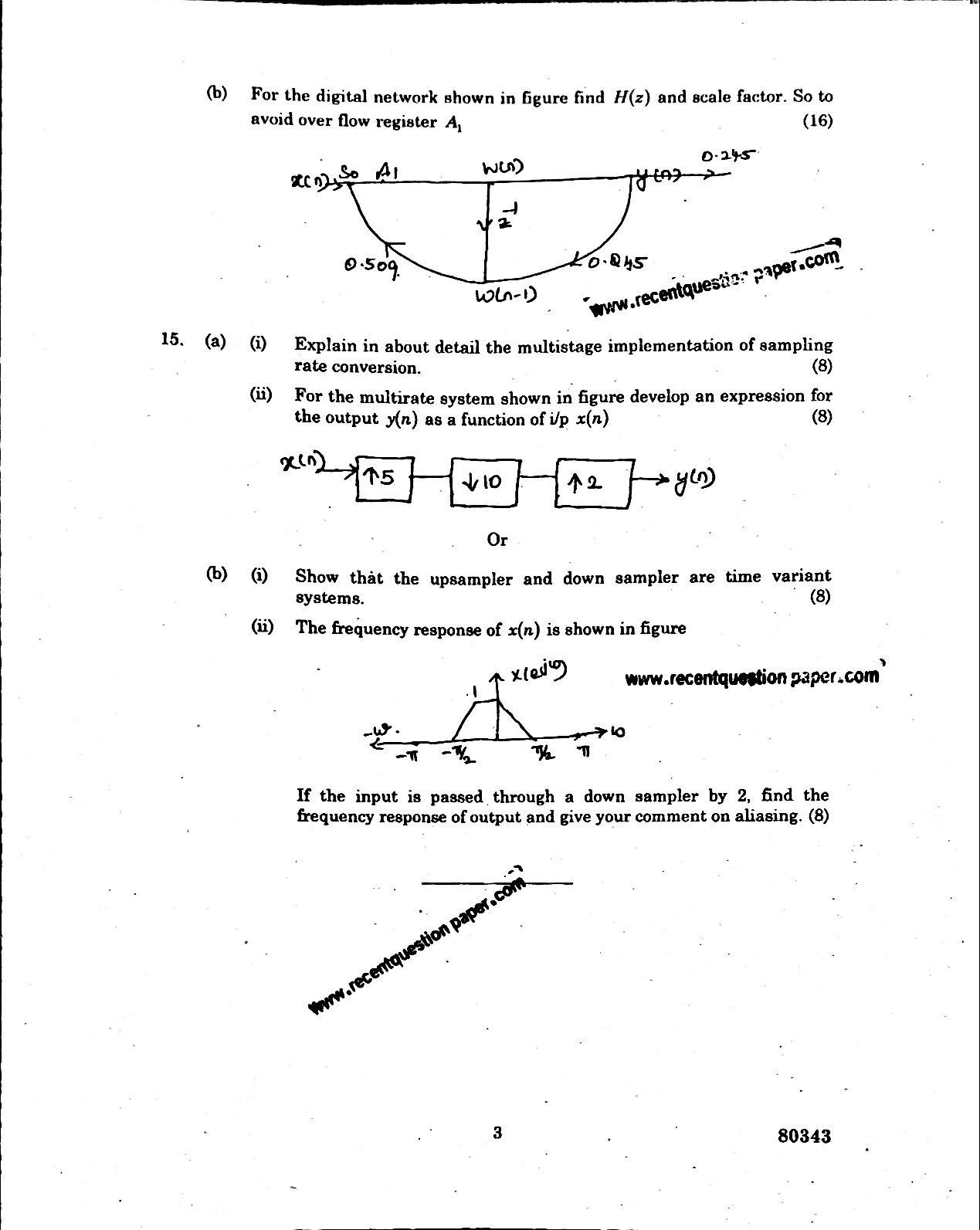 EC6502 Principles Of Digital Signal Processing Anna University Question paper Nov/Dec 2016 pdf