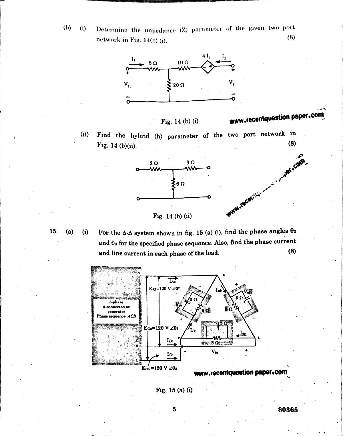 EE6201 CIRCUIT THEORY 2 - Recent Question Paper