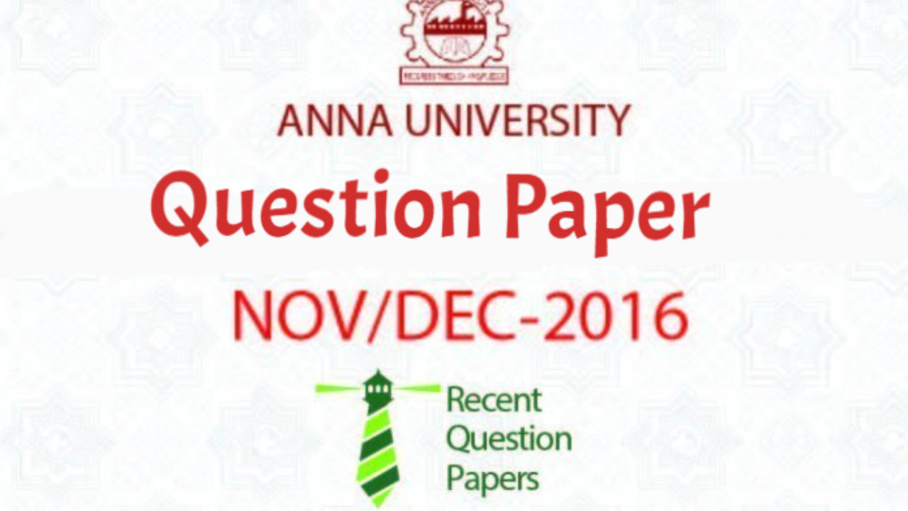 EC6201 Electronic Devices Nov/Dec 2016 Anna University Question Paper
