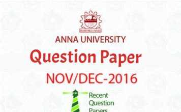 Anna University Question Paper Nov/Dec 2016