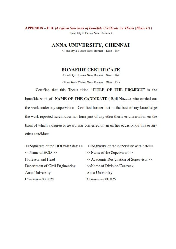 Anna university project report format for ug and pg guidelines for preparation of memtech phase i report phase ii thesis pdf click here to download yelopaper Image collections