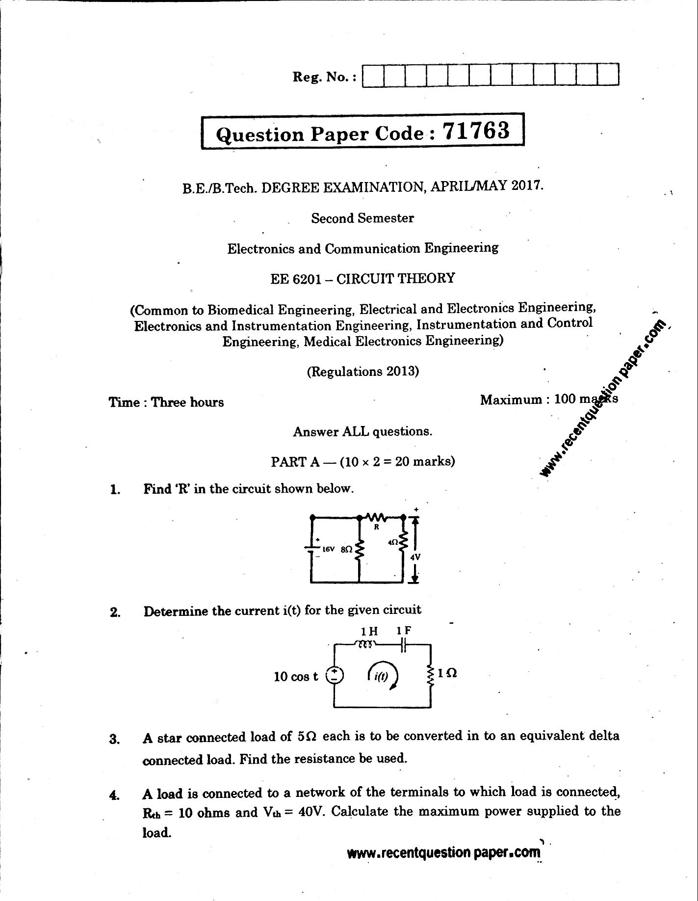 ee6201 circuit theoryapril may 2017 anna university question paper
