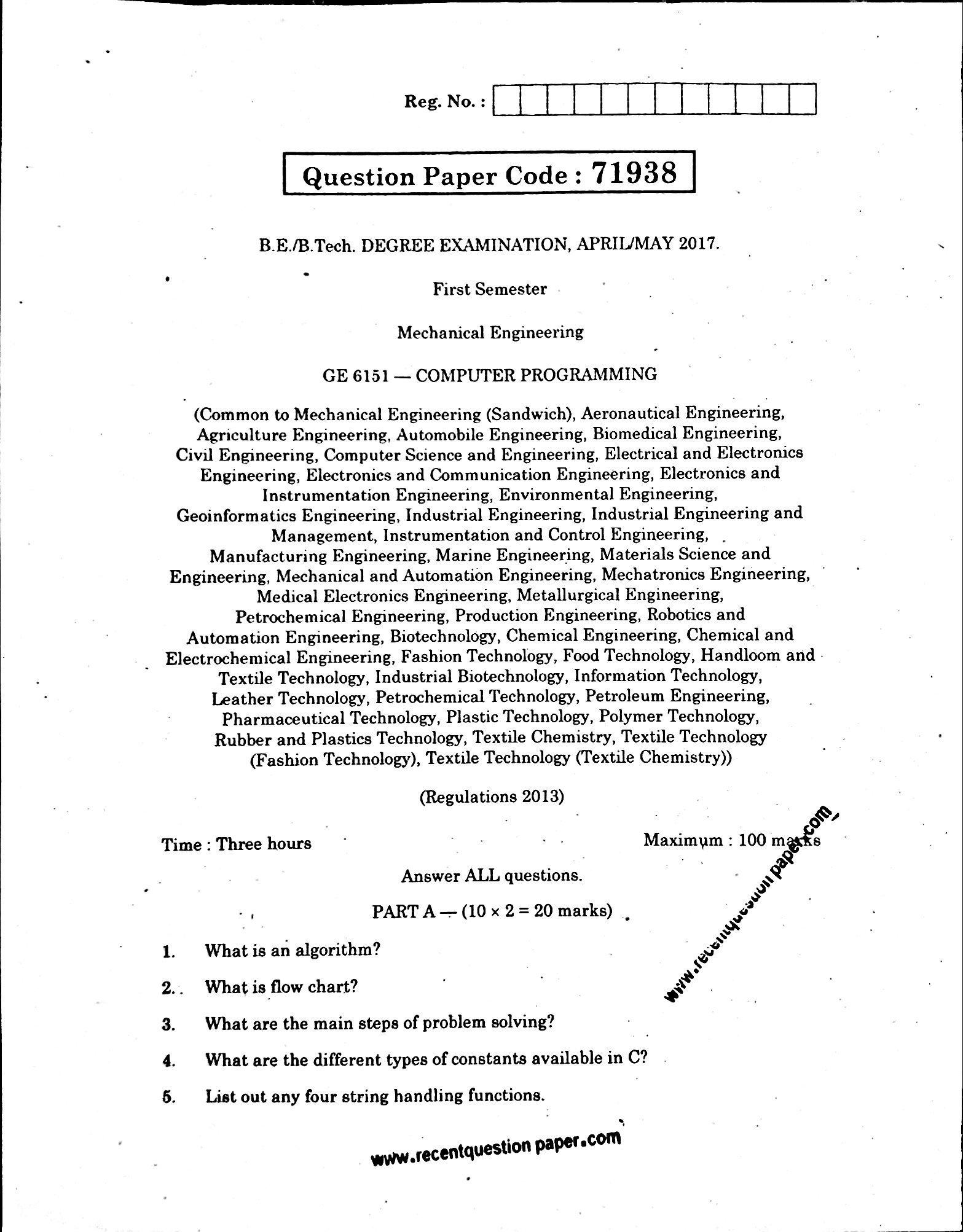 C Programming Questions Pdf