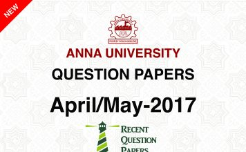 ,Anna University Question PaperApril/May 2017