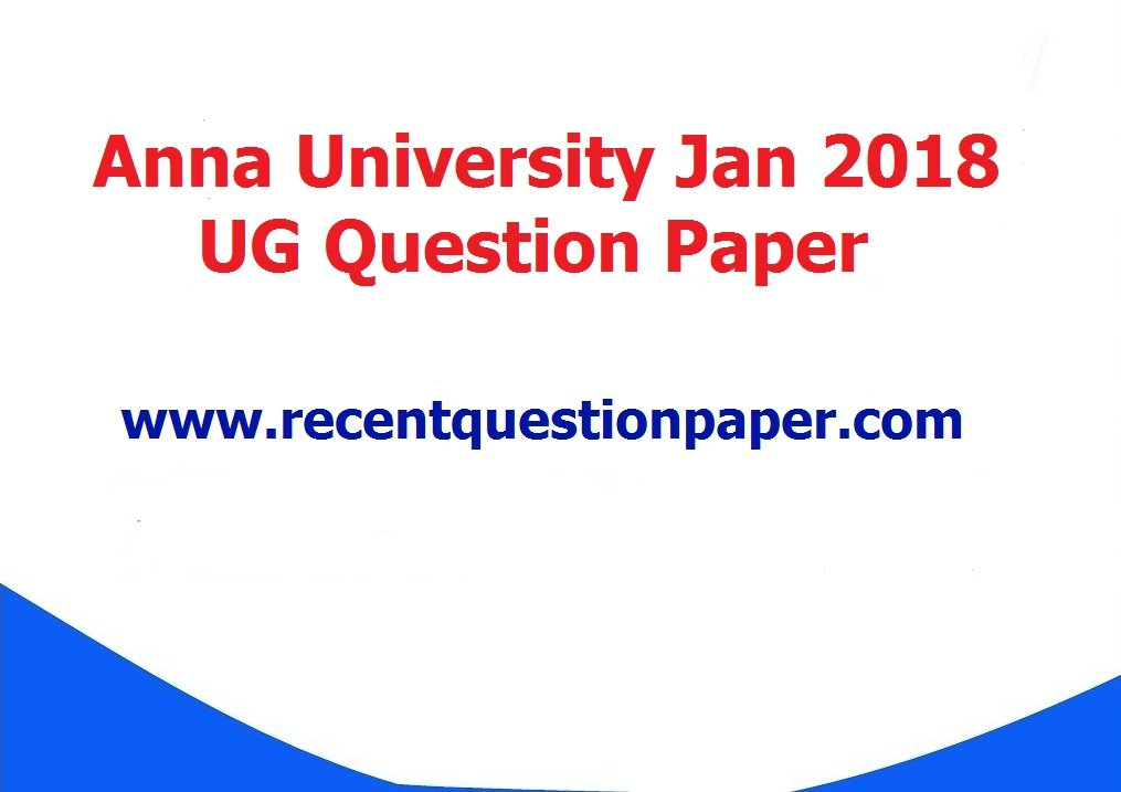 CY8151 Engineering Chemistry Jan 2018 Anna University Question Paper