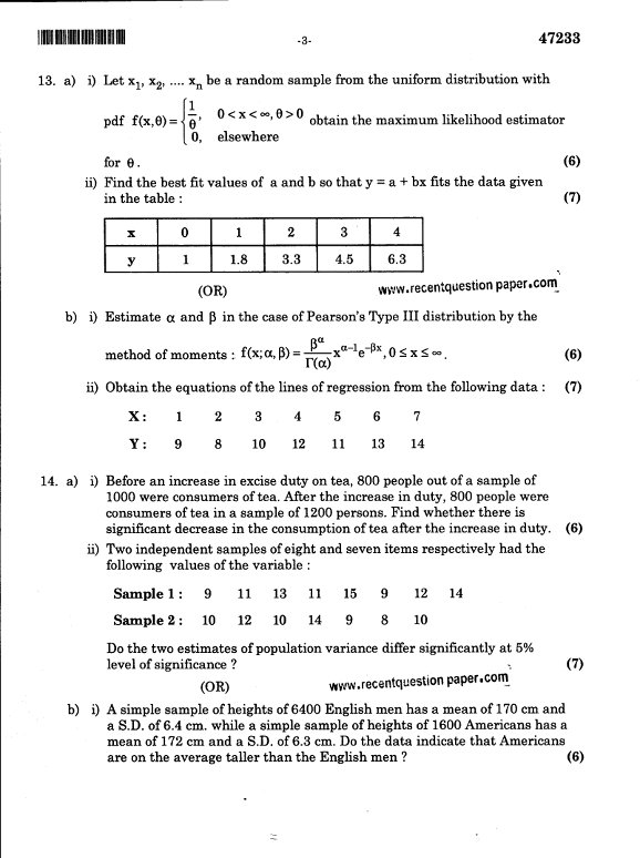 Probability Questions Pdf